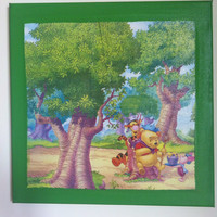 Winnie The Pooh Canvas Painting by litsakiv on Etsy