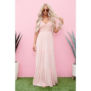 Right This Sway Maxi Dress (Blush)