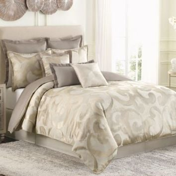 Raymond Waites Sawyer European Pillow Sham in Taupe