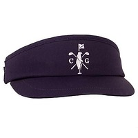 Long Ball Visor in Navy by Collared Greens
