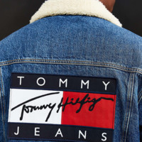 """ Tommy Hilfiger "" Women Men To keep warm Lambs wool Sweater The cowboy Coat"