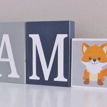 Baby Name Blocks, Nursery Letters, Baby Boy Nursery, Name Blocks, Navy Blue Gray, Baby Boy, Baby Names, Baby Gift, Baby Shower, Photo Prop