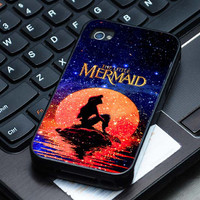 Hard Plastic Case - The Moon Ariel The Little Mermaid Disney - iPhone 4/4s, iPhone 5, iPhone 5s, iPhone 5c, Samsung S2, S3, S4