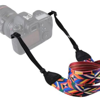 Colorful Diamond Pattern Camera Strap Photographers Gift - CAST60