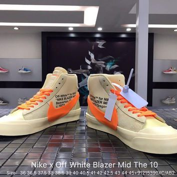 Nike x Off White Blazer Mid The 10 Sports Shoes Size 36-45