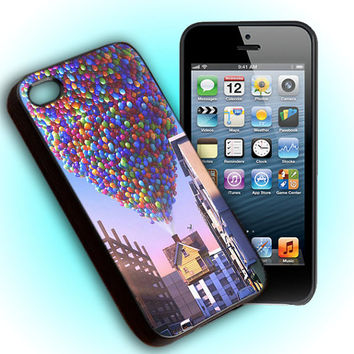 Custom Phone Case  Up Balloon Pixar For iPhone 4, iPhone 4s, iPod 4, iPod 5, Samsung Galaxy S3, Samsung Galaxy S4, Hard Cover