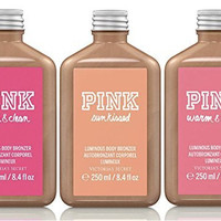 Victoria's Secret PINK Luminous Body Bronzer Lotion Set of 3