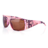 Women's Country Girl® Pink Camo Sunglasses w/Rhinestones
