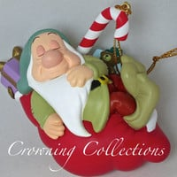Grolier Sleepy Ornament Disney Scholastic President's Edition Snow White and the Seven Dwarfs 7