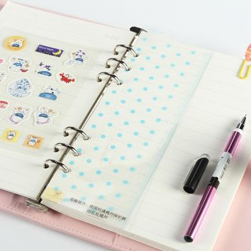 Original creative cute dots spiral notebook ruler accessories,school students bookmark ruler for personal diary planner 2 colors