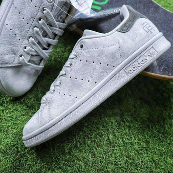 CREYNW6 Sale Reigning Champ x Adidas Stan Smith 3M Grey Suede Sport Shoes Sneaker