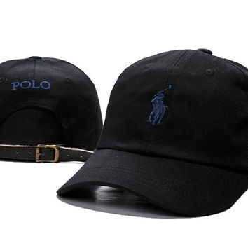 Black Embroidered Baseball Cap Hat
