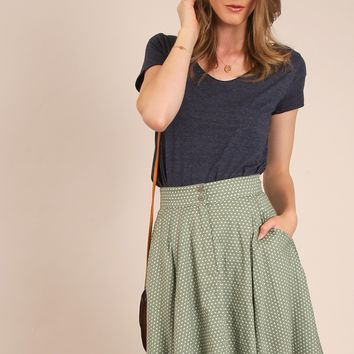 Pistachio Polka Dot Skirt