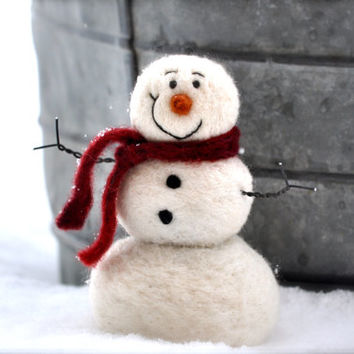 Needle Felting kit - Needle Felted Snowman