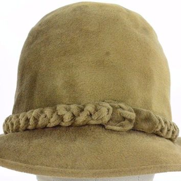 Brown women's fashion flapper dress bucket hat cap fitted