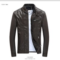 Men 2345 Vegan Leather Slim Fit Jacket