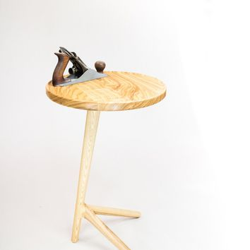 Tripod End Table - Natural Ash - Free Shipping!