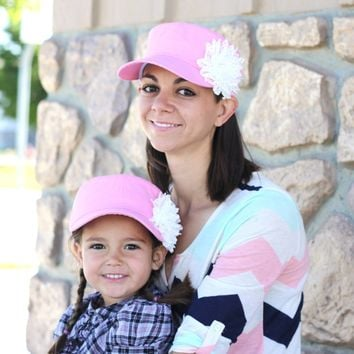 Mommy & Me Baseball Cap set