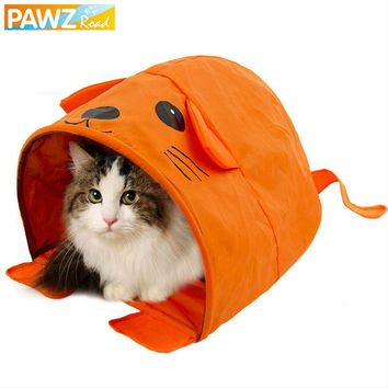 Cartoon Shape Cat Tent With Sound Cat Toys Mouse Collapsible Pet Sleeping Bed Tunnel For Kitten