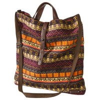 Mad Love Skull Blanket Stripe Tote - Orange