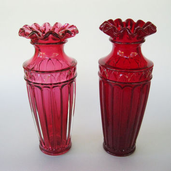 Fenton Vase Grecian Roman Style Ruby Red or Cranberry