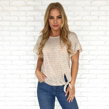 Tied & True Top in Cream