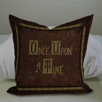 Once Upon A Time Story Book 302 Pillow Case, Pillow Cover, Custom Pillow Case