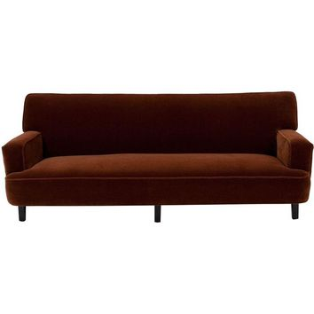 Pre-owned George Nelson Cognac Mohair Sofa