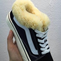 Vans Classics Old Skool With Fur Warm Black/White Sneaker