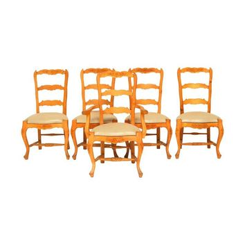 Pre-owned Vintage French Dining Chairs - Set of 8