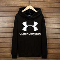 ONETOW Under Armour Fashion Print Cotton Long Sleeve Sweater Pullover Hoodie Sweatshirt Black G-YSSA-Z