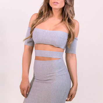 Rehab Can't Stop Me Dress - Grey