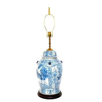 Pre-owned Large Chinoiserie Ginger Jar Lamp