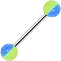 Funky GLOW in the DARK Barbell Tongue Ring