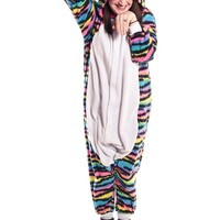 Neon Rainbow Kitty Kigurumi
