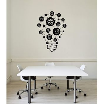 Vinyl Wall Decal Lab Science Class Lightbulb School Decor Interior Stickers Mural (ig5880)