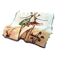 Tache Abstract Art Ballet Dancers Tapestry Throw with Fringe (2500)