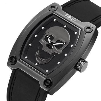 Sport Skull ⌚️ ☠ Watch Men Silicone Band Luminous
