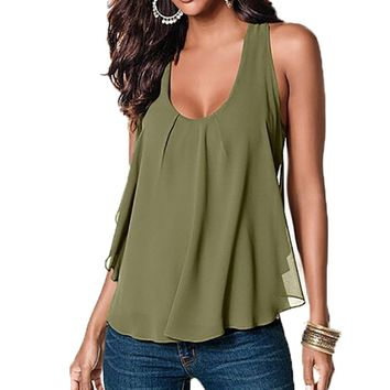 Fashion Out Tank Top Women O Neck Sleeveless Tops Casual Loose Tank Top Streetwear Top Tees Lady Vest Shirt Blouse Plus Size 4XL