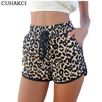 Womens Summer Casual Leopard Printed Shorts