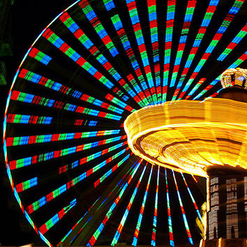 Night Photography, Ferris Wheel at Night, Fine Art Photography, Fine Art, Art, Home Decor, Boardwalk Photography, Beach Photography, Summer