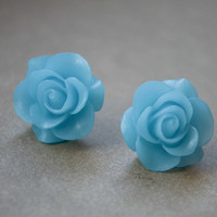 Flower Stud Earrings Resin Flower Earrings Cute Earrings