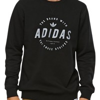 Adidas Stamped Crew Fleece - Mens Hoodie - Black
