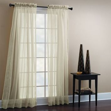 Croscill® 84-Inch Sheer Mist Tailored Window Curtain Panel