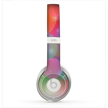 The Unfocused Color Rainbow Bubbles Skin for the Beats by Dre Solo 2 Headphones
