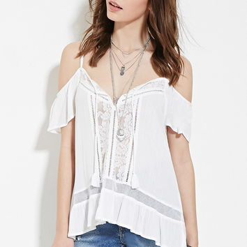 Crinkled Off-The-Shoulder Top