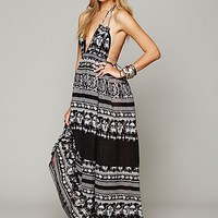 Free People Womens Printed Triangle Top Maxi Dress