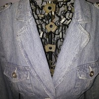Ruff Hewn Denim Pinstripe Jacket from Fashion Gypsies