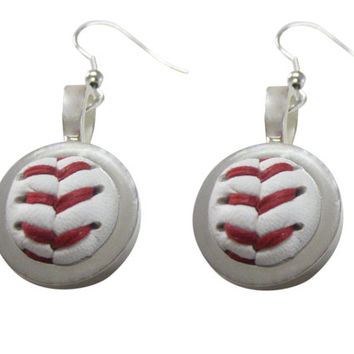 Baseball Pendant Earrings