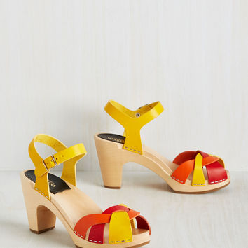Swedish Hasbeens Picnic by the Pond Heel | Mod Retro Vintage Heels | ModCloth.com
